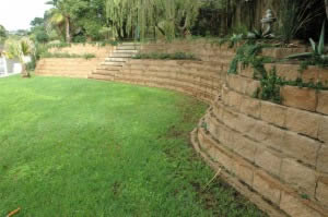 Generous Curves in the Retaining Wall Allow for more Space in the Garden